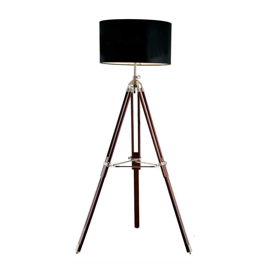 de pie Metal de y de estudio Lámpara pie de modernomadera lujolámpara de elevadaposte negro 6vgIYbyfm7