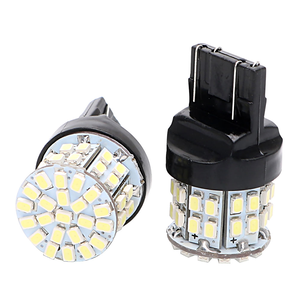 1 Pair 50SMD <font><b>T20</b></font> 7443 DC 12V Stop <font><b>Rear</b></font> <font><b>Bulb</b></font> Universal Backup Reserve Lights Car <font><b>LED</b></font> Brake Light W21/5W Auto Turn Signal Lamp image