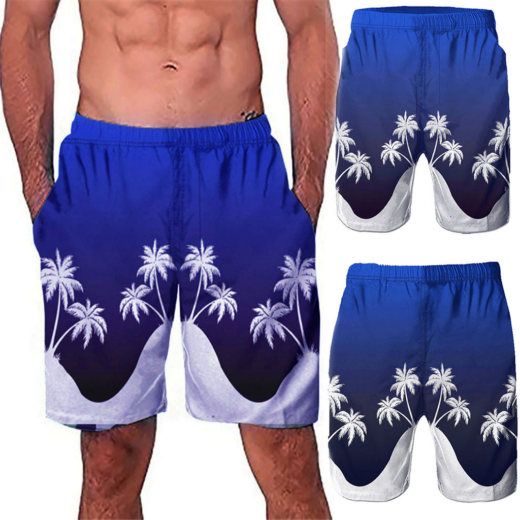 Active Swimwear Briefs Casual Shorts Swimming Trunks Surf 3d Graffiti Printed Beach Work Short Trouser Shorts Pants L0328