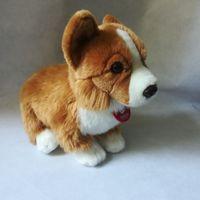 about 28cm lovely squatting welsh corgi dog soft doll plush toy kids toy birthday gift h2867