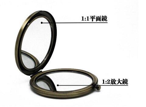 10 pcs espelho compacto DIY Metal Port til espelho de maquilhagem cor de