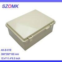 2 개, IP68 abs 플라스틱 방수 인클로저 상자 390*290*165 미리메터 szomk 슈퍼 공급 업체, 플라스틱 콘센트 인클로저