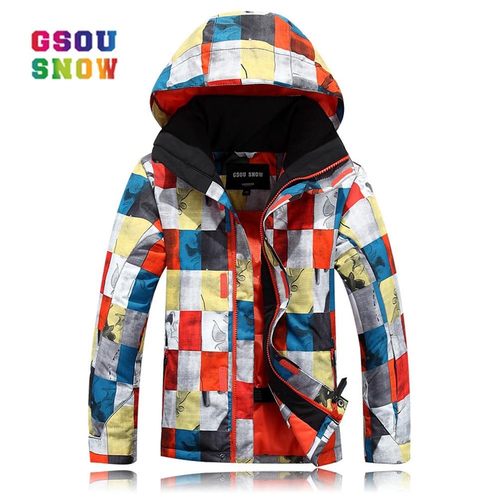 GSOU neige hiver garçons vestes de Ski en plein air de haute qualité enfants Snowboard veste hiver chaleur colorée neige veste manteaux mode