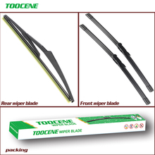 купить Front and Rear Wiper Blades For Fiat Grande Punto 2005-2011 Windshield wiper For FIAT Punto Evo 2009-2013 26+15+12 дешево