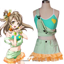 Lovelive! amor vivo cosplay Minami Kotori traje foto ropa para chicas lindas verde meidofuku criada francesa