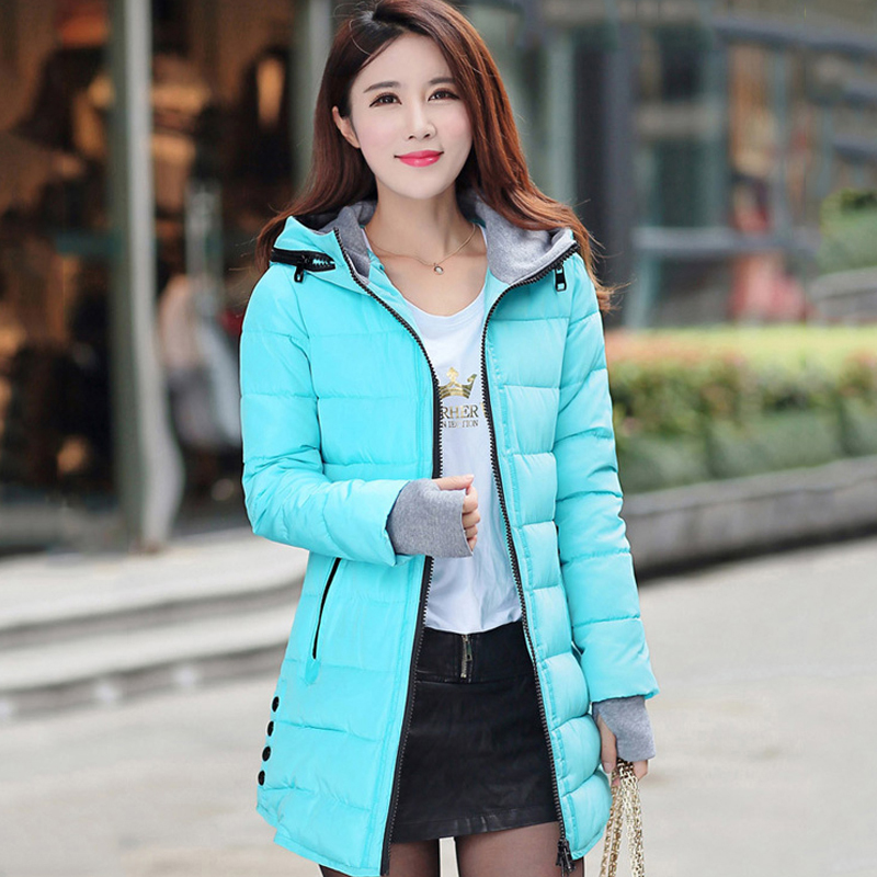 Solid Patchwork   Parka   Chaqueta Mujer Woman Clothes Harajuku Winter Long Warm Plus Size Basic Jackets Coat Women Casaco Feminino