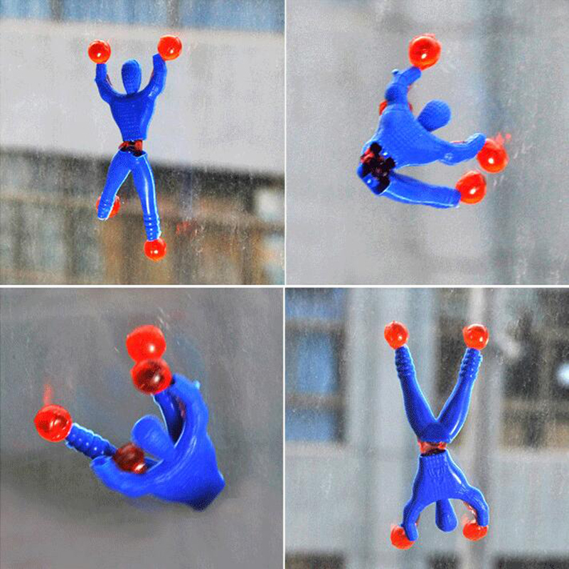 10pcs lot Funny Novelty products Spider man toy slime Viscous Climbing Spiderman squeeze Somersault villain funny