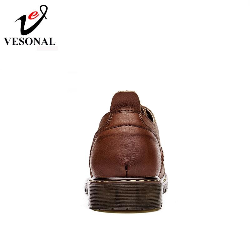 Véritable Spéciale En Offre De Brown 2017 Marche Homme Marque Outillage black Chaussures Doux Vesonal Cuir Haute Occasionnels Qualité Confortable Hommes tqIxI
