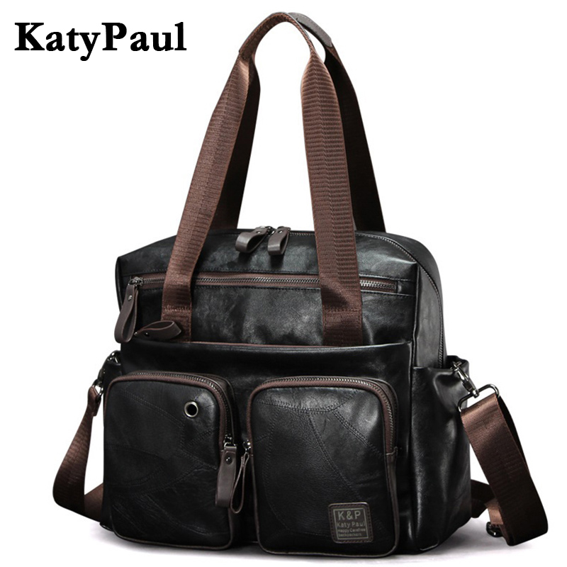 Nwe Fashion Men Handbag Casual High Quality PU Leather Shoulder Messenger Bags Men Travel Bags black large capacity Male Bag fashion casual large capacity handbag for men shoulder bags male waterproof oxford fabric bussiness bag mochila high quality