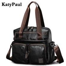 Nwe Mode Männer Handtasche Casual Hochwertigem PU Leder Schulter Messenger Taschen Männer Reisetaschen schwarz große kapazität Männlichen Tasche
