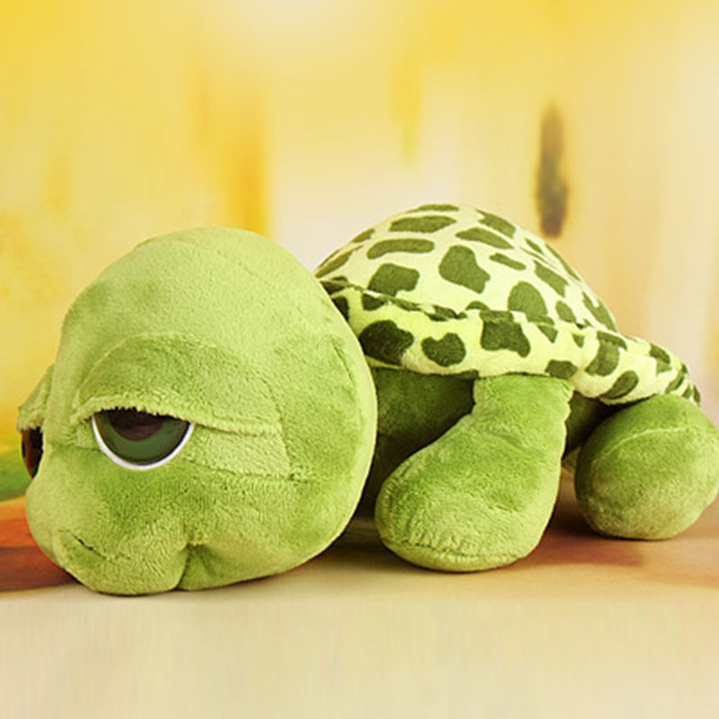 Funny Big Eyes Green Tortoise Turtle Animal Baby Stuffed Plush Toy Gift Unisex title=