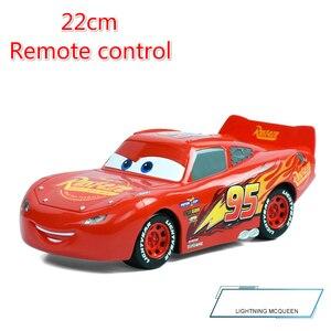 Image 3 - Big Size 22cm Disney Pixar Cars 3 Remote Control Storm Jackson Lighting McQueen Cruz Ramirez Metal Car Toys Boys Birthdays Gift
