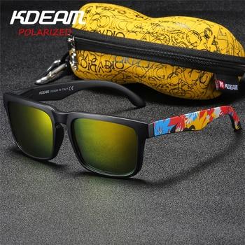 2c3f0383c7 Gafas De Sol para hombre Kdeam gafas De Sol polarizadas De marca De  diseñador cuadradas gafas De Sol De playa con espejo De Sol para vacaciones  con funda ...