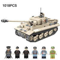 world war germany tiger 131 jedi tank SD.KFZ.181 PANZERKAMPFWAGEN VI AUSF.F batisbricks building block ww2 army minifigs toys|Stacking Blocks| |  -