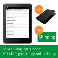 """Новое поступление likebook AIR """" Ebook Reader 1G/16G 300ppi E-reader сенсорный экран с передним Светильник крышка"""