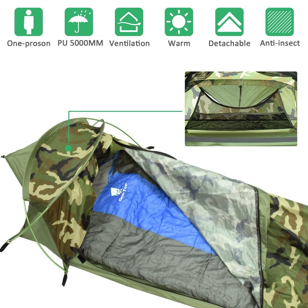 GeerTop BivyI Ultralight One Person Backpacking Tent 1 Man 3 Season Waterproof