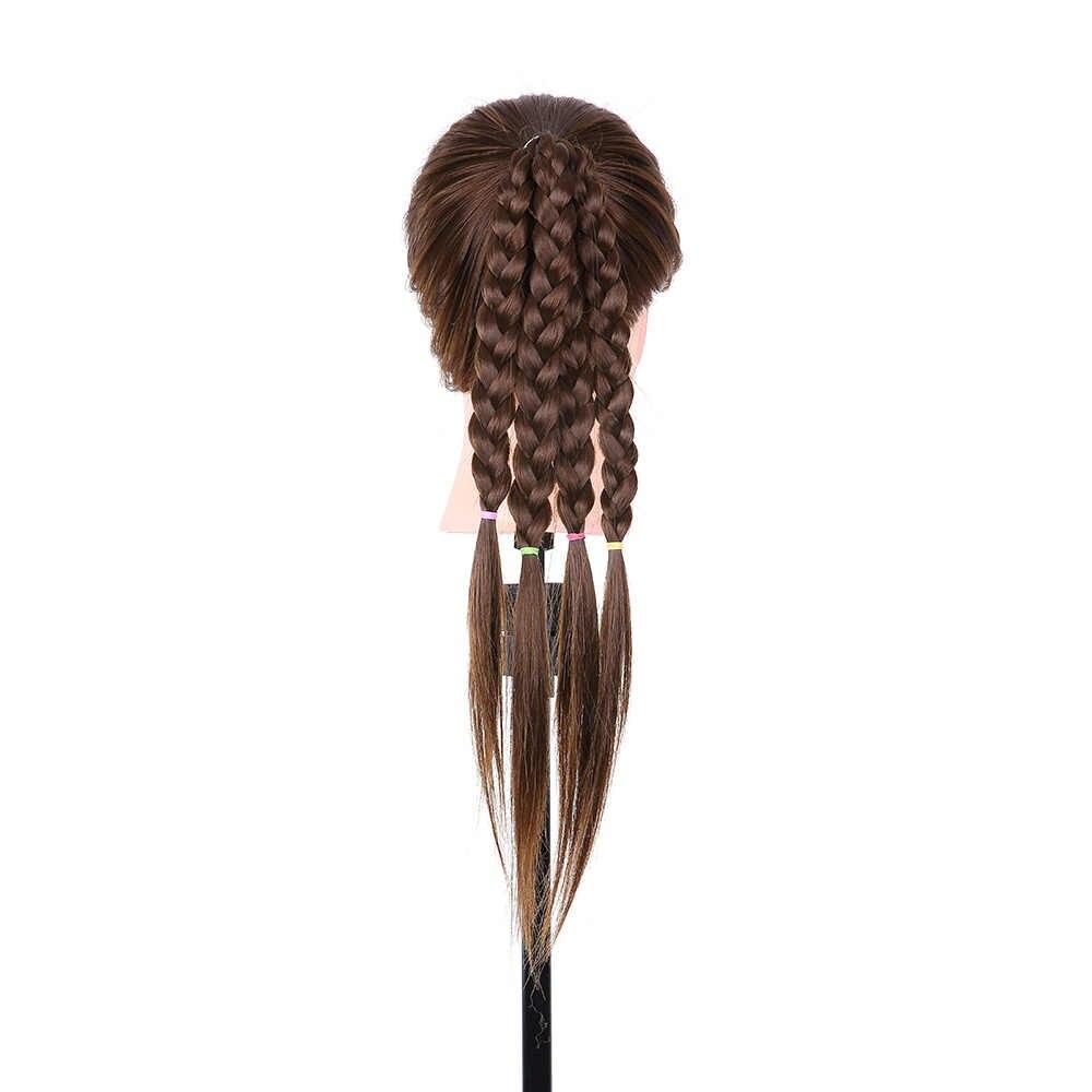 24 дюймов для укладки волос манекен головы Парикмахерская учебная головка для волос Плетение практики длинный манекен для волос тренировка головы модели