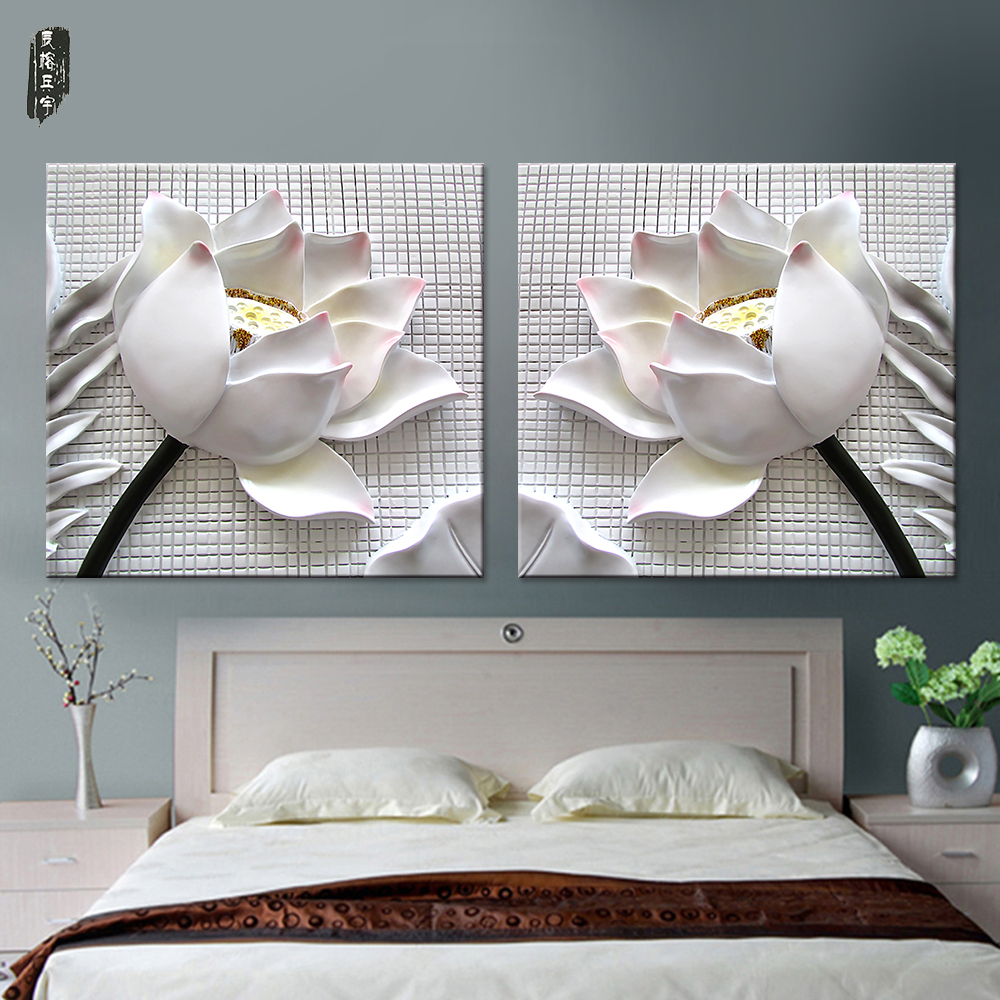 compare prices on lotus flower posters online shopping buy low flower canvas painting for living room lotus wall art modern home decor posters and prints nordic