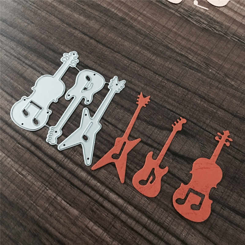 Guitar Metal Cutting Dies Stencils for Scrapbooking DIY Cards Making Decor