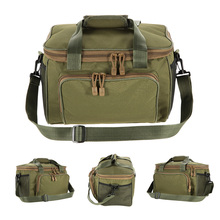Fishing Bag Reel Lure Bag Canvas Multifunctional Outdoor Waist Shoulder Bags Fishing Storage Fishing Tackle Pesca 37*25*25cm Men