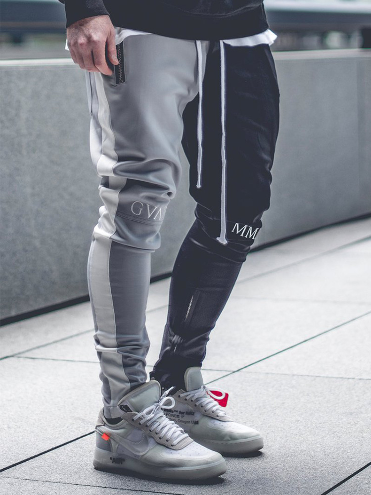 2019 New Muscle Fitness Trousers Foot Zipper Cotton Summer Clothing Casual Sweatpants Running Gym Jogging Pants Men Size M-XXXL