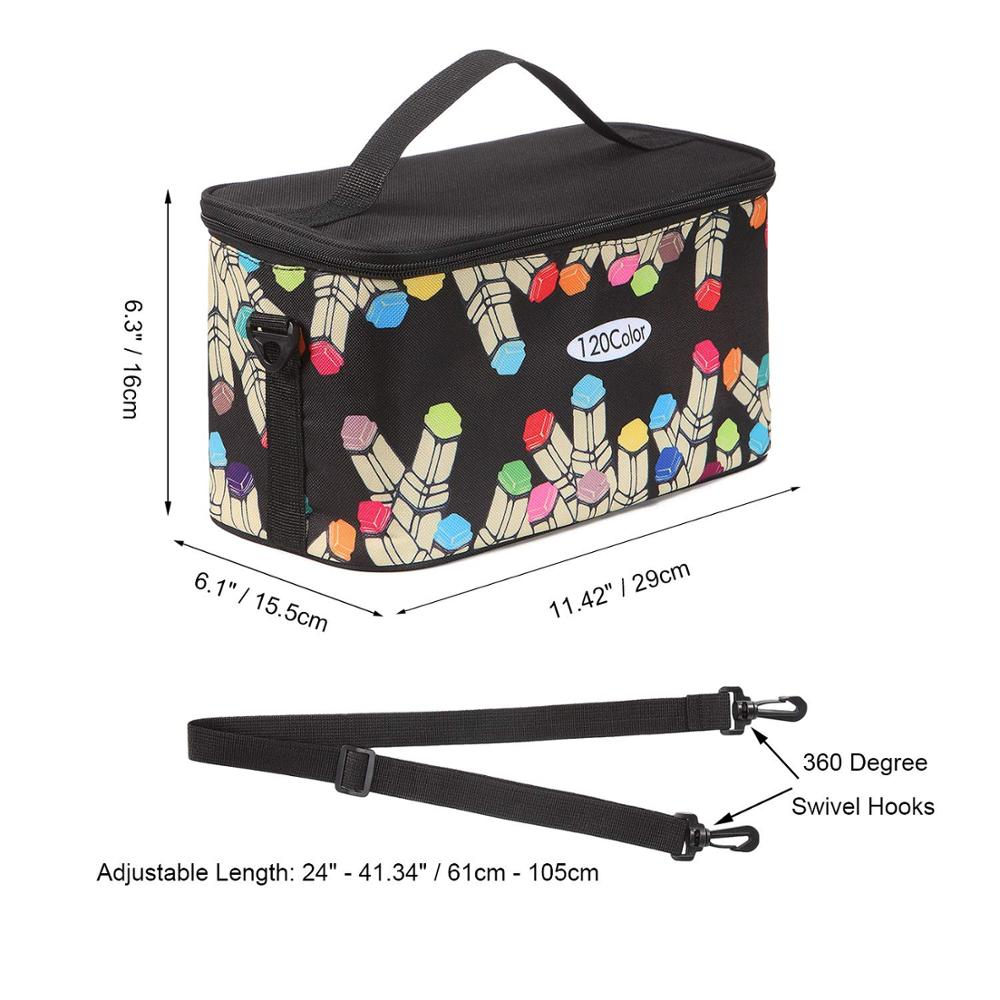 Image 5 - TOUCHFIVE New Marker Pen Case Holder Large Capacity School Bag 120 Markers Organizer Multifunctional Zipper Storage Carrying BagPencil Bags   -