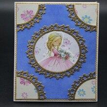 Glita Creatif lace layering frame scrapbook dies metal cut for embossing albulm photo decorative card making background die