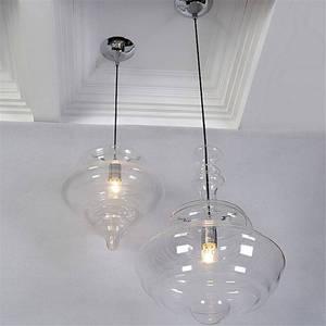 Image 2 - Lampe led suspendue en verre en forme de gourde, design nordique, luminaire décoratif dintérieur, idéal pour un loft, un salon, une salle à manger ou une cuisine