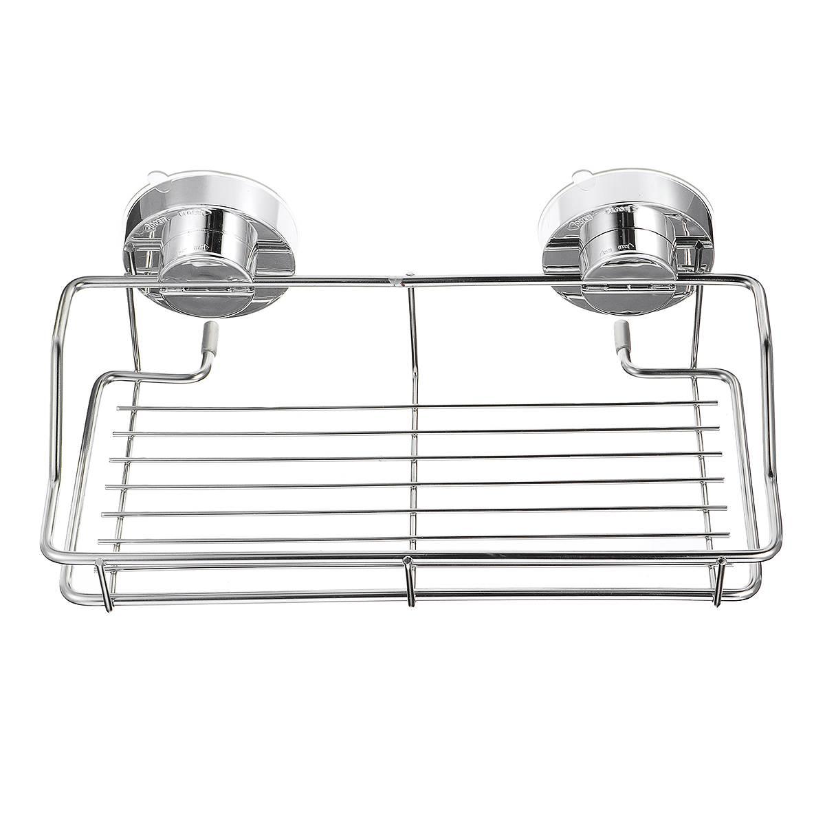 Bathroom Shower Rack Shelf Basket Stainless Steel Shower Caddy//Organiser suction