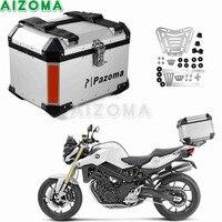 Motorcycles 45L Luggage Trunk Rear Luggage Lock Top Case Aluminum Storage Tail Box Topcase For Kawasai Suzuki Trumiph Honda BMW