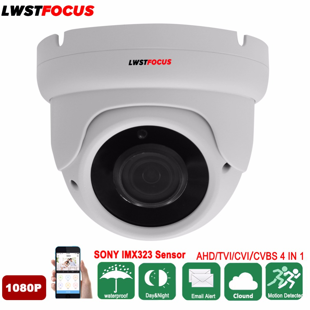 Full HD AHD Camera 1080P Sony IMX323 2MP Video Surveillance Camera IR Night Vision 30M Outdoor Dome Camera Security CCTV Camera smar outdoor bullet ip camera sony imx323 sensor surveillance camera 30 ir led infrared night vision cctv camera waterproof