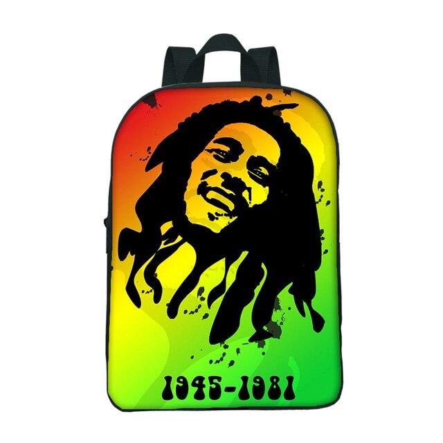 2018 Super Star Bob Marley Mini School Bags For Kindergarten Boys