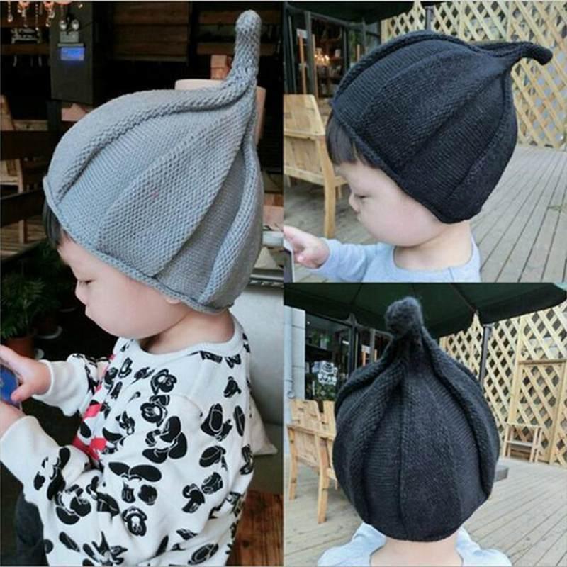 Baby Hat Child Pointy Windmill Hats Unisex Kids Knitted Warm Beanie Children Bonnet Cap Newborn Photography Props Fotografia