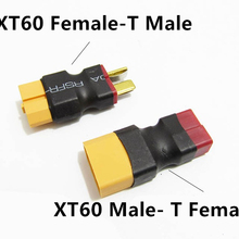 1PC RC XT60 Male/Female To Deans Plug T Female/Male Connector Adapter Car Plane Helicopter