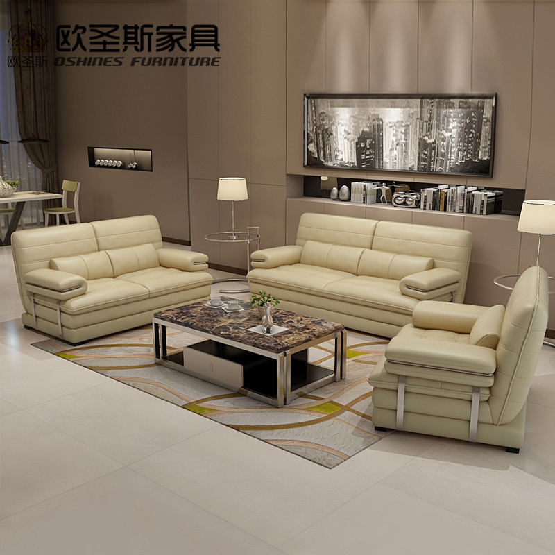 Living Room With Leather Sofa: 2019 New Design Italy Modern Leather Sofa ,soft Comfortable Livingroom Genuine Leather Sofa