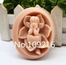 New Product!!1pcs The Love Baby With Lotus (zx210) Food Grade Silicone Handmade Soap Mold Crafts DIY Mould