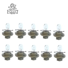10X  5mm 12V 1.5W Car Instrument Yellow Light Bulbs for Audi / BMW Mercedes Volvo Opel - Brown