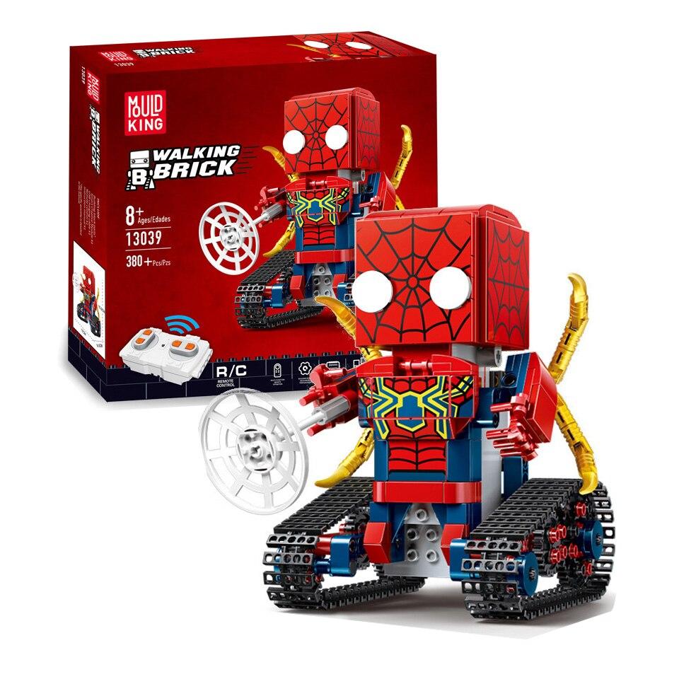 รีโมทคอนโทรลหุ่นยนต์ Legoing Iron Man Spiderman Superman Captain America Marvel Superheroes อาคารบล็อกของเล่นเด็ก-ใน บล็อก จาก ของเล่นและงานอดิเรก บน   1