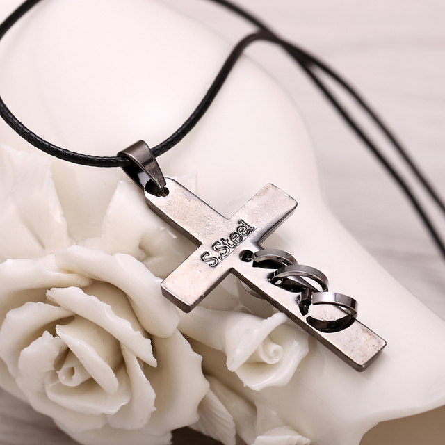 Hot Anime Death Note Black Gold Metal Necklace Cross Logo Pendant Cosplay Accessories Jewelry