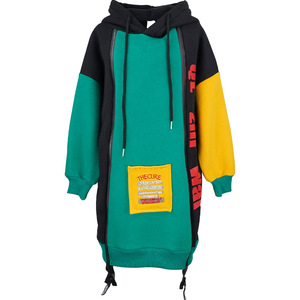 Image 2 - 새로운 히트 컬러 코튼 겨울 따뜻한 스웨터 여자 플러스 벨벳 십대 소녀 후드 두꺼운 아이 티셔츠 어린이 의류