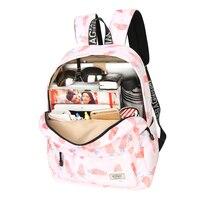 New Women Floral Carrot Print Canvas Backpack Fashion Girls School Bags Summer Travel Student Laptop Backpacks Mochila Feminina