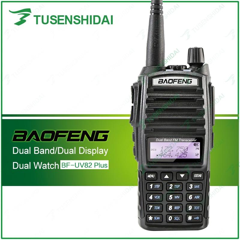 BaoFeng UV-82 8W Ny version UV82plus Portable Ham Radio Walkie Talkie Dual PTT Amatörradio Baofeng UV-82plus med hörlurar
