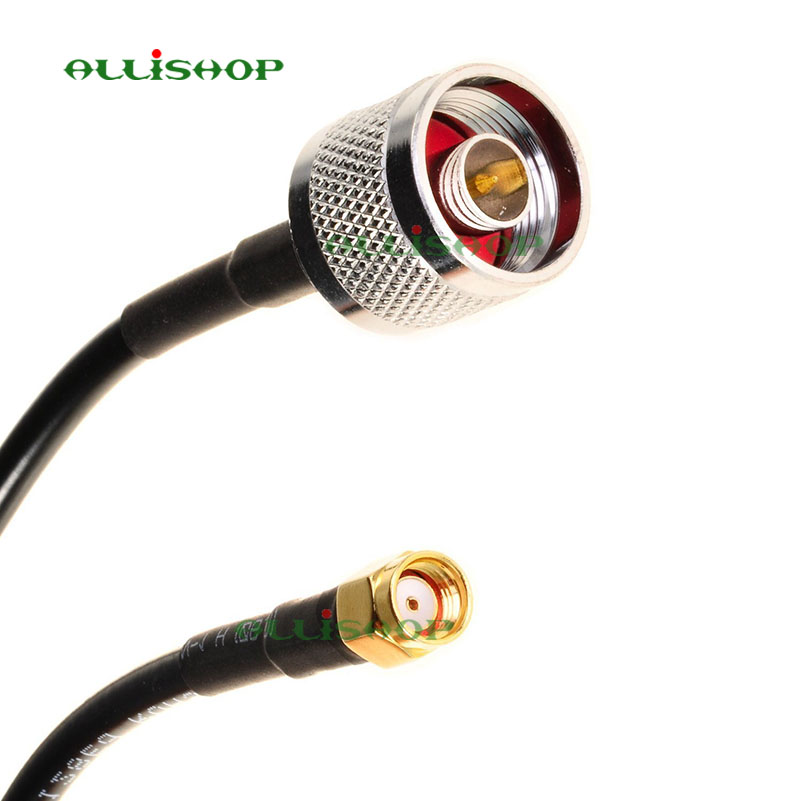 3m 2.4GHz Pigtail Cable N Male to RP-SMA Male connectors cable LMR200 connecting for TP-LINK TL-ANT24PT3 allishop rp sma female flange to rp sma male pigtail cable rg316 20m