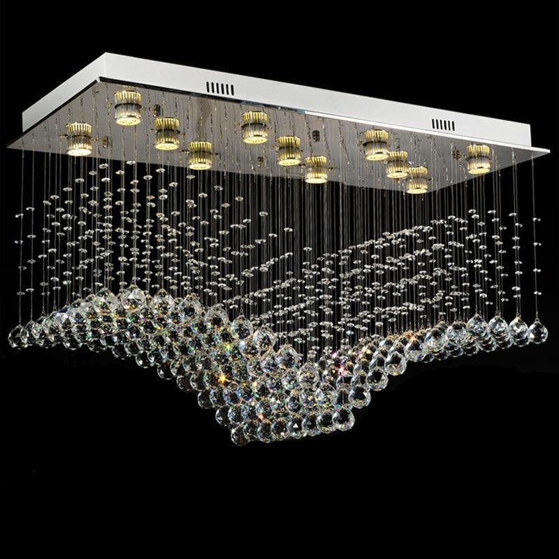 new lustre modern flush crystal chandelier lighting LED lamps of living luxury crystal light