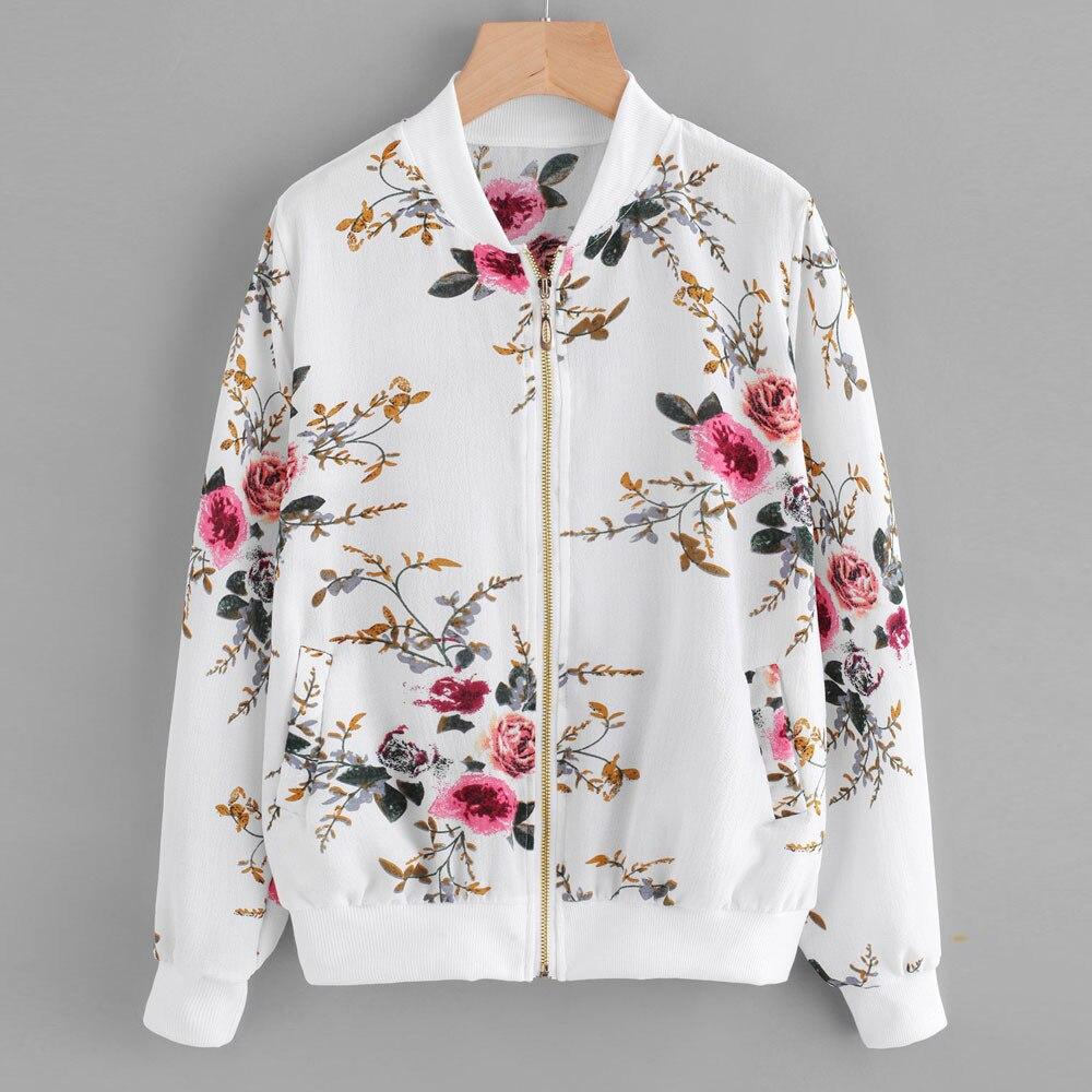 Женская джинсовая куртка размера плюс, куртка бомбер на молнии с цветочным принтом в стиле ретро, повседневная верхняя одежда|Куртки|   | АлиЭкспресс