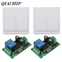 Wall Panel Switch Relay Remote 433MHz RF TX 433MHz Receiver Receiver Control Switch 2 CH Switch