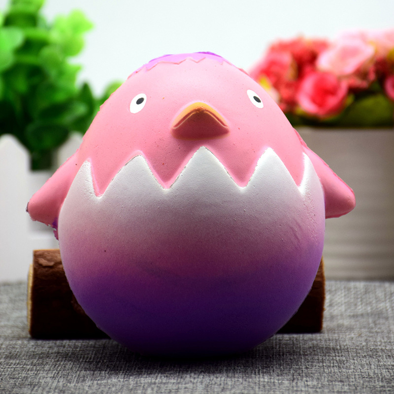 1pc Funny Squishy Cartoon Chicken Egg Low Rising Soft Cute Squeeze Decompression Release Creative Antistress Toys Gift E