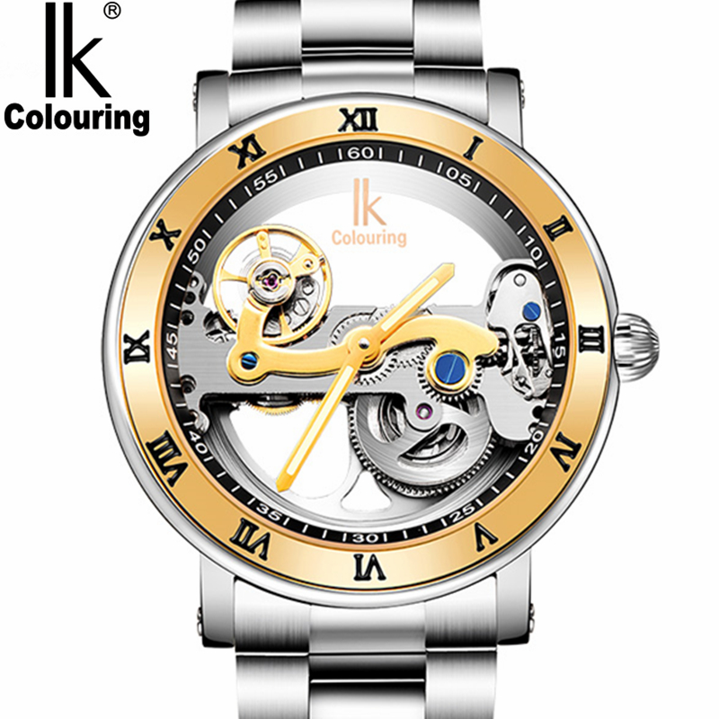 New Mens Watches Top Brand Luxury Automatic Mechanical Watch Male Sided Hollow Transparent Steel Wrist watches