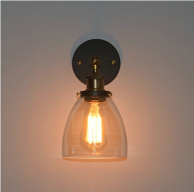 купить IWHD 60w Retro Loft Style Industrial Vintage Wall Lamp Home Lighting Edison Wall Sconce Glass Lampshade Stair Light Arandela по цене 2923.89 рублей