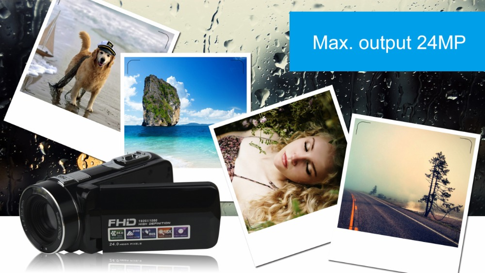 """FHD 1080P Digital Video Camera fotografica Camcorder MP 3"""" Screen External Battery Support SD Card with HDMI Output filmadora 3"""